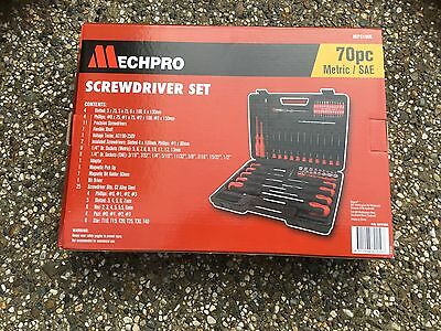 Mechpro 70 Piece Screwdriver Set MPS109K With Carry Case New In Box