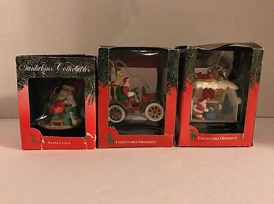 Santa's Best Ornament Collection, Lot Of 3