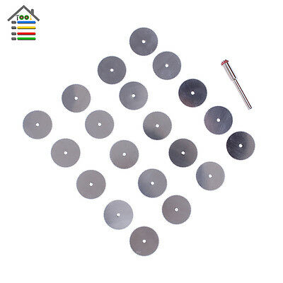 20pc 22mm Steel Wood Cutting Wheel Saw Blades Disc for Power Rotary Tool