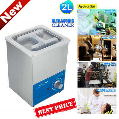 2L Pro Ultrasonic Cleaner Heater Timer Industrial Ultra Sonic Wave Tank Cleaning