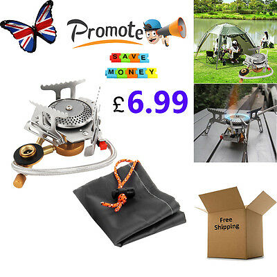 Quality Portable Outdoor Camping Gas Stove Cooking Foldable Split Burner 3000W