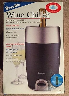 Breville Portable 7 minute Wine Chiller WC15XL With BONUS