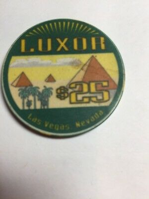 Luxor Casino Chip $25 First Issue Vintage Rare
