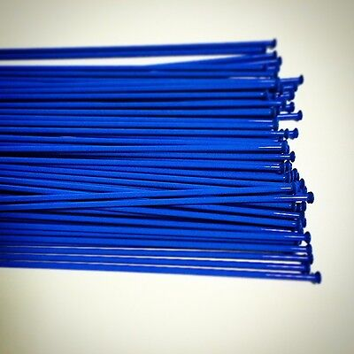 """66pcs Custom Length 14G(2.0mm) Straight Pull Bicycle Stainless Spoke """"PC BLUE"""""""