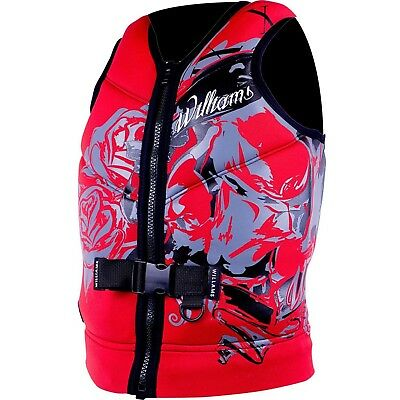 Williams Mens Sector Neoprene Life Jacket Vest RED Plus Size 4XL