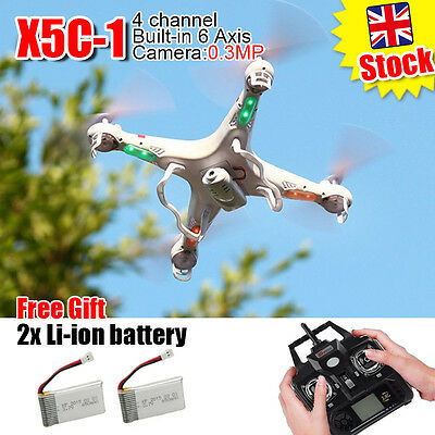 X5C-1 2.4GHz 4CH 6 Axis RC Quadcopter Drone RTF With HD Camera RC  Explorers