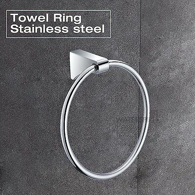 Hand Towel Ring For Bathroom Kitchen Cloth Hanger Holder Round SUS Wall Mounted