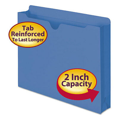 Smead Colored File Jackets with Reinforced Double-Ply Tab, Letter, 11 Pt,...
