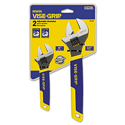 """IRWIN Two-Piece Adjustable Wrench Set, 6"""" and 10"""" Long"""