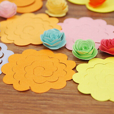 20pc Handmade Flower Type Origami Manual Rose Paper Mixed Colors craft handwork