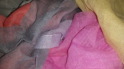 Fine weave muslin fabrics 100% cotton mixed colours