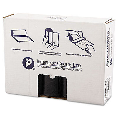 Inteplast Group High-Density Can Liner, 40 x 48, 45gal, 16mic, Black,...