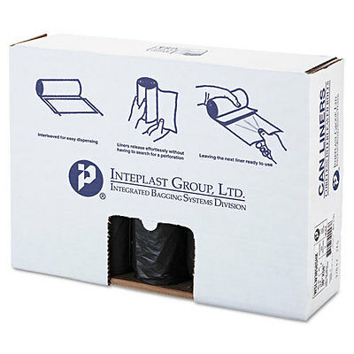 Inteplast Group Low-Density Can Liner, 38 x 58, 60gal, 1.4mil, Black,...
