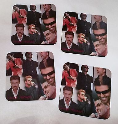 George Michael -  4 x Collage Photo Drink Coasters