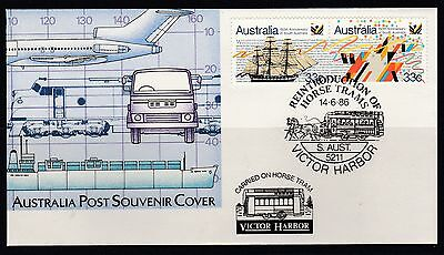 Reintroduction Horse Trams Victor Harbor SA 1986 Cover carried on horse tram