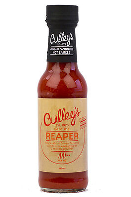 CULLEY'S Carolina Reaper Hot Sauce. XXX HOT CHILLI SAUCE Made in NZ (Culleys)