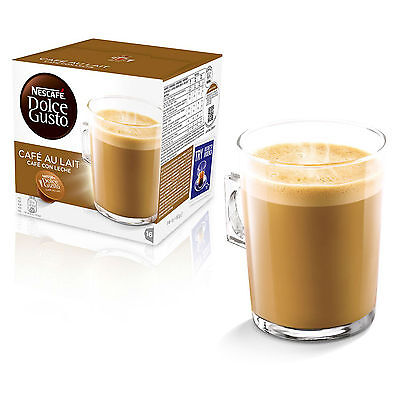 Dolce Gusto Cafe au Lait Coffee (6 Boxes,Total 96 Capsules ) 96 Servings