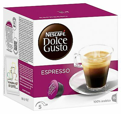Dolce Gusto Espresso Coffee (6 Boxes,Total 96 Capsules ) 96 Servings