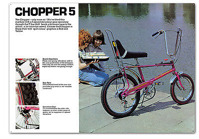 raleigh chopper 5 sign , CHOPPER classic bike metal memorabilia sign