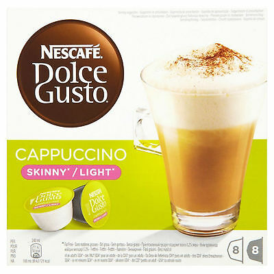 Dolce Gusto Skinny Cappuccino Coffee (6 Boxes,Total 96 Capsules ) 48 Servings