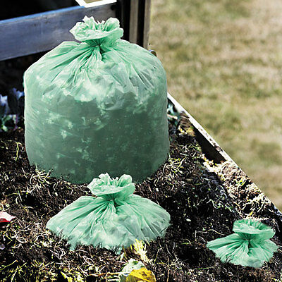 Stout EcoSafe6400 Compostable Compost Bags, .85mil, 42 x 48, Green, 40/Box