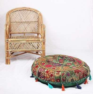 Handmade Patchwork Cotton Indian Vintage Ottoman Pouf Cover Ottoman Foot Stool
