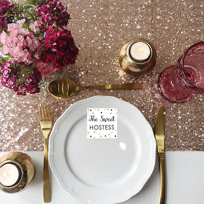 Rose Gold Sequin Table Runner - Ready to ship from the UK