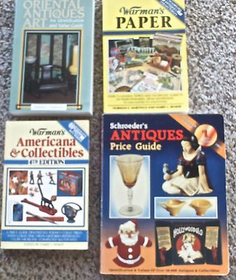 4 Books on Americana, Oriental, Paper and Antiques Identification/Price Guides