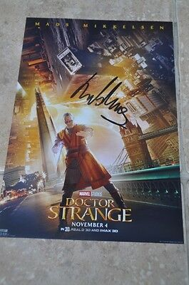 "Mads Mikkelsen Signed 12"" x 8"" Colour Photo Doctor Strange Star Wars Rogue One"