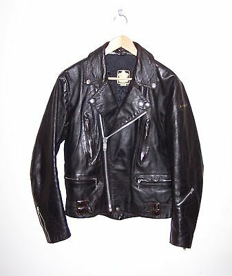 Vintage Lewis Leathers Leather Motorcycle Biker Jacket, Size 38