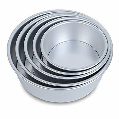 HST Mall 5 Tier Non Stick Deep Round Cake Tin Set With Loose Base Ovenware Home
