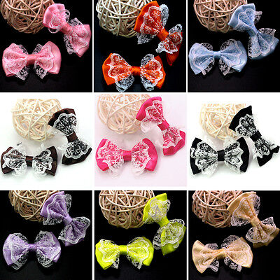 10Pcs Fashion Grosgrain Ribbon Bow Bowknot Ribbon With Strap Craft Bow