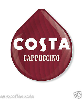 Tassimo Costa Cappuccino, 24 T Discs 12 Servings (12 Coffee, 12 Milk) Sold Loose