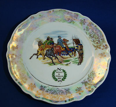 An antique Napolean Battle of Friedland commemorative plate, transfer printed