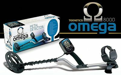 """New Metal Detector Teknetics Omega 8000 with 10"""" concentric coil"""