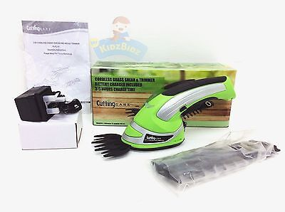 Cutting Cares Cordless 2 in 1 Grass Lawn Shear Bush Hedge Hand Trimmer Cutter
