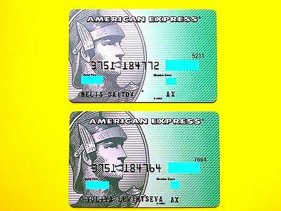 RUSSIA American Express 2 beautiful cards (2 species)