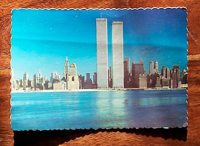 Post-card Thr twin towers of the World Trade Center