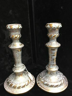 Eye Catching Antique Candlesticks - Stangl Pottery