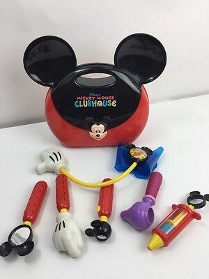 RARE Vintage DISNEY'S MICKEY MOUSE CLUBHOUSE DOCTOR DR SET! Disney Playset HTF