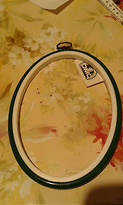 An Oval Green 2 In 1 Dmc Hoop Or Frame For Cross Stitch,embroidery,