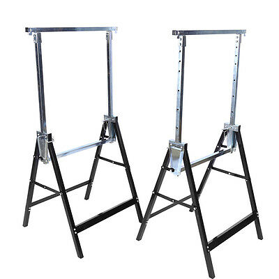 Pair of Telescopic Trestle Saw Horse Foldable Work Bench Adjustable 200KG Load