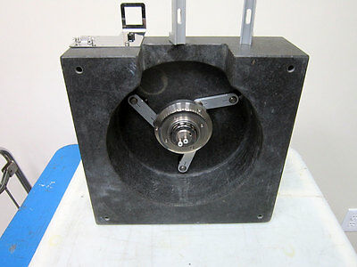 """Granite Block With Parts 13.75"""" X 14.125"""" X 4.75"""" Tall ~ 13"""" 14"""" 4"""" Xy Stage"""