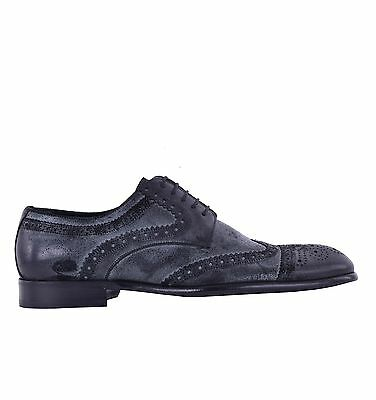 DOLCE & GABBANA Wildleder Business Derby Schuhe Schwarz Formal Shoes 05065