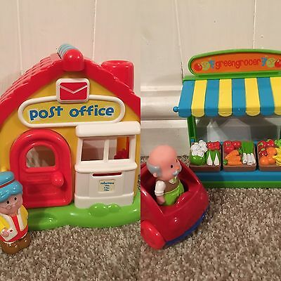 ELC Happyland Greengrocer And Post Office With Sounds Bundle - New