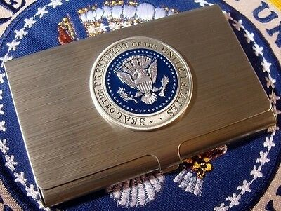 Pewter Presidential Seal Business Card Case - Card Holder