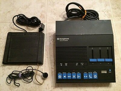 Dictaphone Voice Processor Foot Pedal Microphone Model 3360 Transcriber