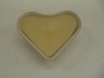 Longaberger 2000 Heart Dish Candle + Holder Sweetheart Love Valentines Valentine