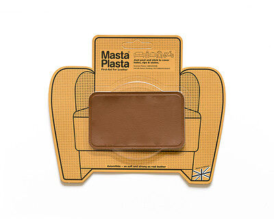Leather repair self-adhesive patch MastaPlasta 10x6cm Fix holes burns and stains