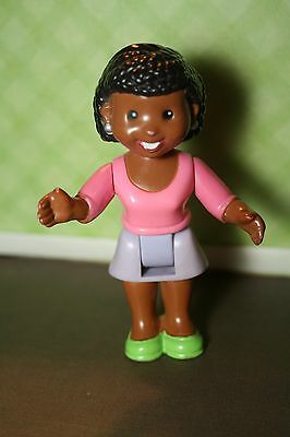My First Dollhouse Replacement Doll People Mom African American Brown Skin